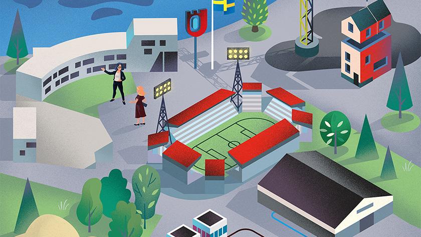 Illustration över delar av Örebro